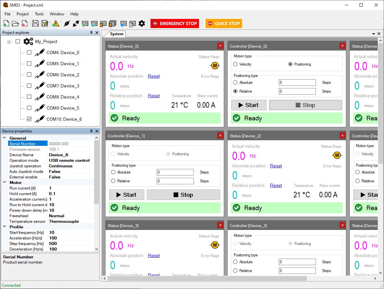 SMD3 Software Screenshot
